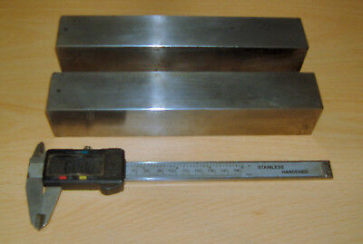 """Pair of hardened & ground parallels, 1.475"""" square x 8.250"""" long"""