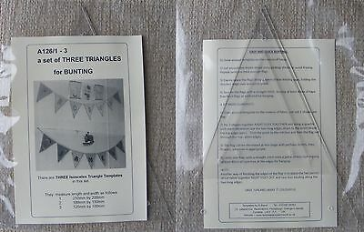 Plastic Templates for making Bunting