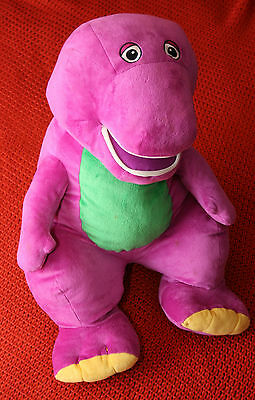 lovely barney the dinosaur large soft toy