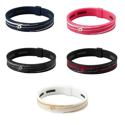 Phiten RAKUWA Bracelet Slash line Silicon TITANIUM 15cm 5 color -From Japan-