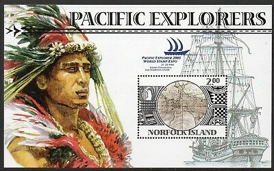 NORFOLK Is, 2005 PACIFIC EXPLORERS MINISHEET MNH