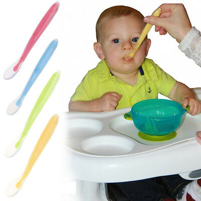 Baby Friendly First Stage Tip Silicone Feeding Utensils Spoon for Babies