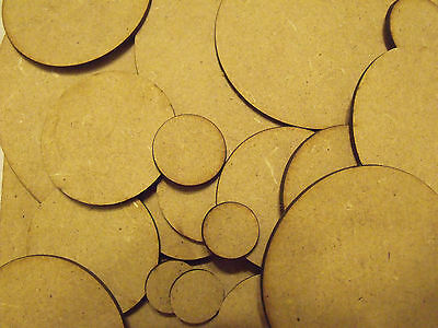 Round Bases for warhammer 40k, wargames, table top games .MDF wood warmachine