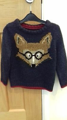 M & S   Boys Jumper 2 -3 years   Very Cute !   Excellent condition
