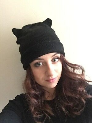 95c45b75c9f H m Cute Meow Cat Ear Wild Animal Ears Camo Camouflage Army Green Beanie Hat