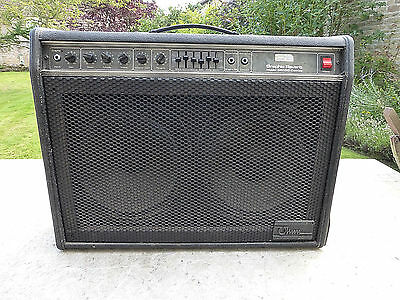 """EARLY 80s """"OHM"""" VINTAGE GUITAR 100 WATT AMP/ AMPLIFIER...made in CHESIRE ENGLAND"""