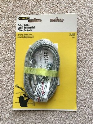 Stanley Hardware 73-0680 Garage Door Extension Spring Safety Cables