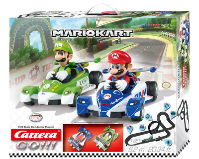 Carrera 62431 Go!!! Mario Kart Mario vs Luigi Slot Car Race Set 1:43
