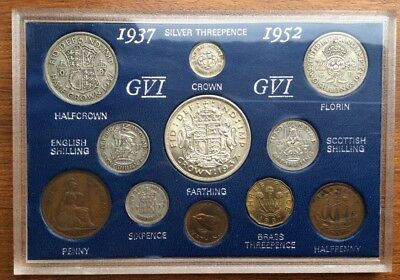 1937 Great Britain Coin Year Set (80th Birthday) - Includes 1937 Crown