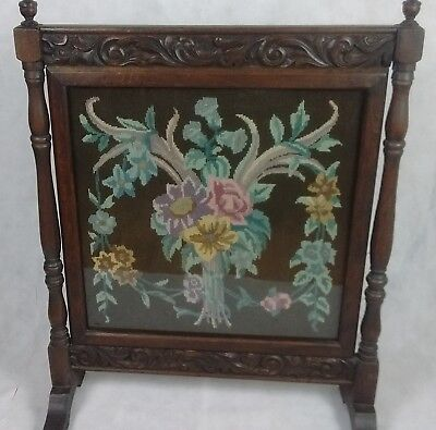 Victorian Embroidered Fire Guard