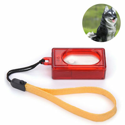 Useful Dog Pet Click Clicker Training Obedience Agility Trainer Aid Wrist Strap