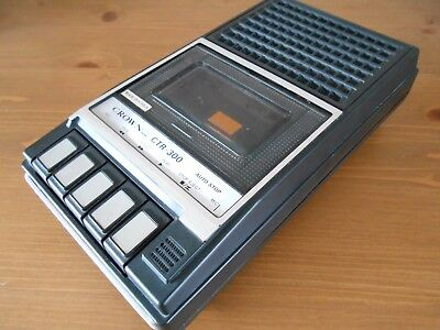 VINTAGE CROWN CTR-300  CASSETTE TAPE RECORDER - Tested and Working