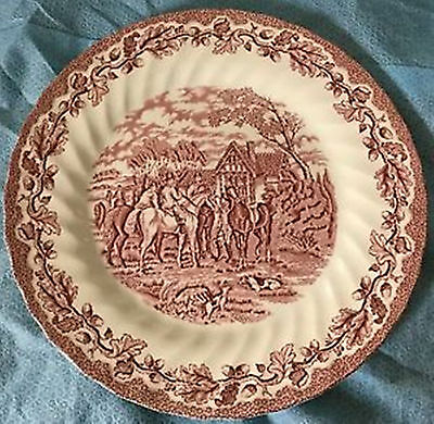 Fox Hunt Hunting Royal Wessex Dinner Plate Redware Transfer 25.25cm diam.