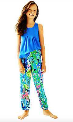 Lilly Pulitzer NWT Girls Reese Pants in Multi Purrfect $48