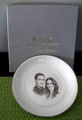 Prince William and Catherine Wedding Pin Dish - Halcyon Days - Boxed