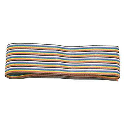 Cable Ribbon 20 Conductor Rainbow 28AWG 25 Feet Flat
