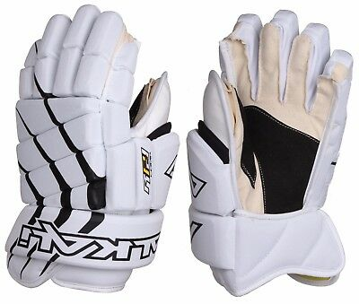 Lot of 10 pairs of Alkali RPD Comp Hockey Gloves White Black Size 14""