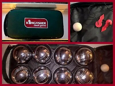 'kingfisher Classic Games' Steel French Boules In Case - Great Used Condition!!!