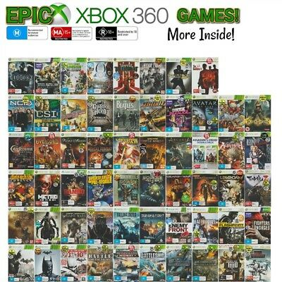 💙❤️️🖤 Microsoft XBOX 360 ●● ASSORTED GAME TITLES Rated M & Above ●●  17/10