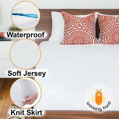 WATERPROOF MATTRESS COVER King Queen Full Size Hypoallergenic Bed Pad Protector