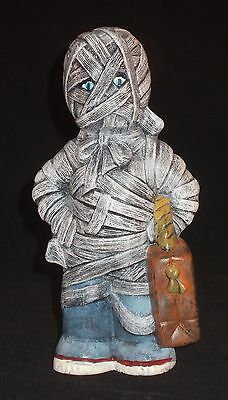 Trick Or Treater Mummy Hand Painted Ceramic Home Decor