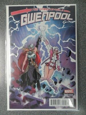 The Unbelievable Gwenpool 2 Variant Mint Bought New Never Read Grade This Baby