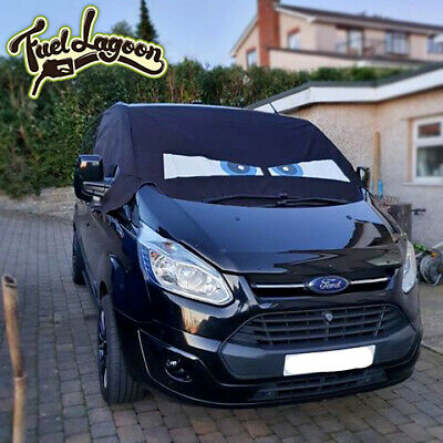 Ford Screen Cover Transit Custom Front Window Black Out Blind Frost Eyes Blue