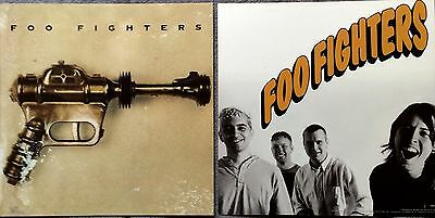 Foo Fighters Self Titled RARE promo 12x12 poster flat '95