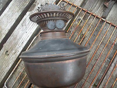Antique Copper / Brass  Oil Lamp Base  Improved Duplex Burner  Good Order..