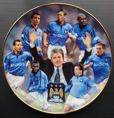 Manchester City 2001-2002 Champions Danbury Mint Plate Kevin Keegan Shaun Goater