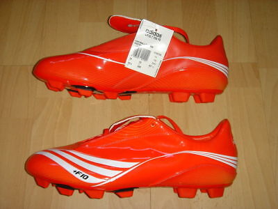 Adidas F10.7 Soccer Boots F 10 Football Firm Ground Shoes Red NEW