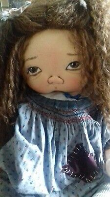 Hettie by Jan shackelford dolls from Poor Side of Town Collection. Signed. Ooak