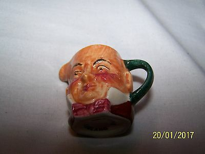 Artone Toby/Character Jug ~ Jug with two faces, pink bow tie ~ 4cms