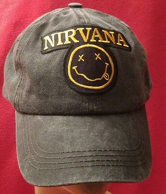 Nirvana Rock Band Ball Cap Pigmented Dyed Unstructured Adjustable​ Hat