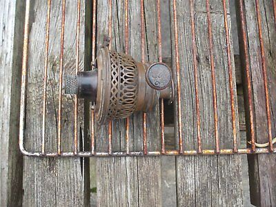 "Antique Brass Oil Lamp Rise & Fall  Burner"" Eugeos Gluhlight Stamped"", Gwo."