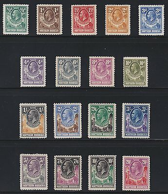 Northern Rhodesia 1925-29 SG1-17 Complete Set Mint, MNH/MLH