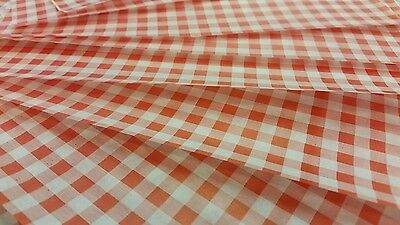 Greaseproof Paper Sheets Gingham Check RED Printed