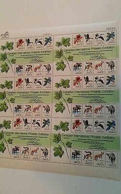Scott 1757 sheet stamps 13 cent Canadian International Philatelic Exhibition