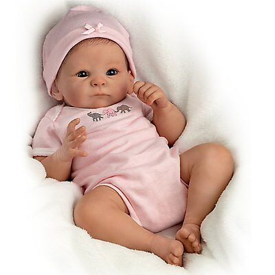 LITTLE PEANUT baby girl doll by Tasha Edenholm - Ashton Drake