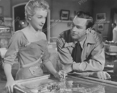 "A Couple With Woodrail Pinball Machine 1953   8"" - 10"" B&W Photo Reprint"