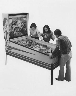 "Atari Hercules Pinball Machine   8"" - 10"" B&W Photo Reprint"