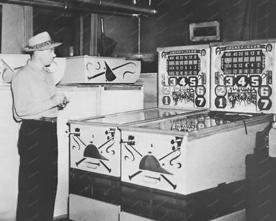 "Bally Jockey Club 1941 Payout Pinball Machine 8"" - 10"" B&W Photo Reprint"