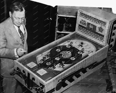 "Bally Reserve 1938 Pinball Machine  8"" - 10"" B&W Photo Reprint"