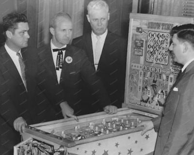 "Bally Show Time Bingo Pinball Machine 8"" - 10"" B&W Photo Reprint"