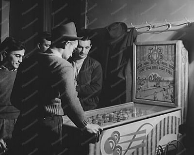 Chicago Coin O'Boy Pinball Woodrail Arcade 8' -10 B&W Photo Reprint