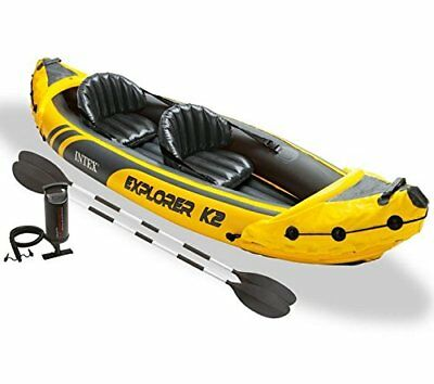 Set de kayak hinchable y 2 remos, 312 x 91 x 51 cm  Intex Explorer K2 AVENTURA