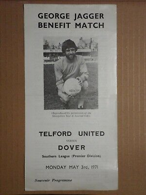 TELFORD UNITED v DOVER 1970-1971 George Jagger Benefit Southern League