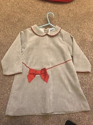 Girls Spanish Designer Sardon Dress Age 36 Mnths/Age 3