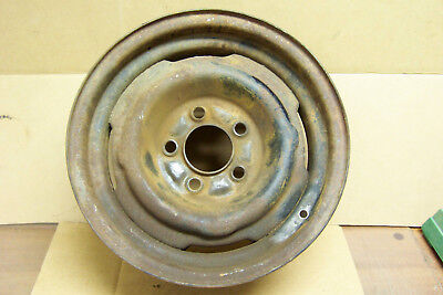 "1965 1966 1967 & Other Ford Mustang 5 Lug 14"" X 5 1/2"" X 3 3/4 Steel Wheel/Rim"