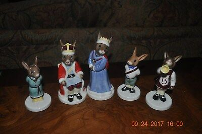 "Royal Doulton Five Bunnykins Figurines ""the Royal Family"""